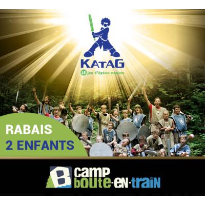 Katag au camp Boute-en-Train 7 À 13 ANS (940$ tx inc.) RABAIS 2 ENFANTS D'UNE MÊME FAMILLE