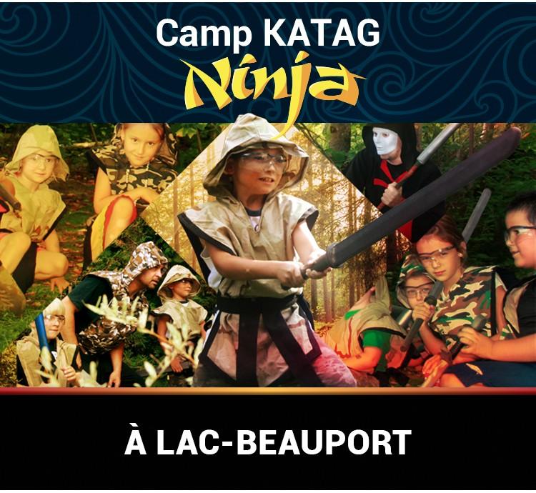 Camp Katag Ninja à Lac-Beauport (240$ tout compris)