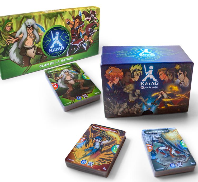 Combo jeu de cartes «Feu contre Terre» + Deck «Clan de la nature»