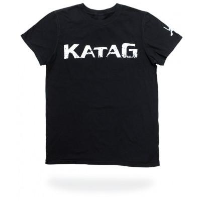 T-Shirt Katag - Adulte - Noir (KATAG en blanc) + logo sur la manche