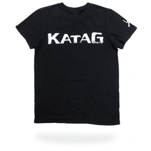 T-Shirt Katag - Enfant - Noir (KATAG en blanc) + logo sur la manche